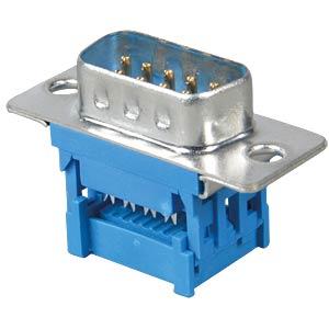 D-SUB-Stecker, 9-polig f. Flachbandkabel FREI