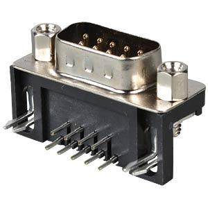 D-SUB-Stecker, 9-polig, gewinkelt, RM 7,2 FREI