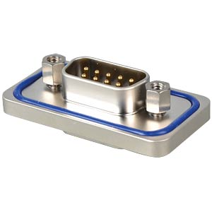 D-SUB-M, 9-pin, solder cup,IP67 Solid,prec.m. CONEC 15-000573