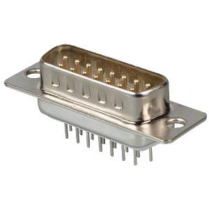 D-SUB-Stecker,15-polig, Printausführung FREI