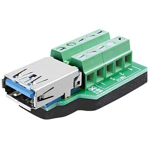 USB 3.0 A socket > 10-pin terminal block DELOCK 65370