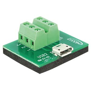 Micro USB socket > 6-pin terminal block DELOCK 65517