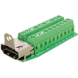 HDMI socket > 20-pin terminal block DELOCK 65168