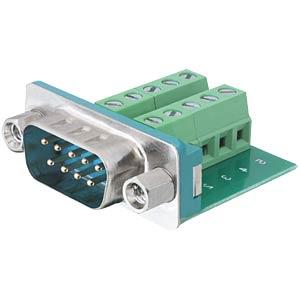 Sub-D 9-pin plug > 10-pin terminal block DELOCK 65269