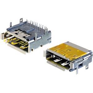 Dual port panel jack, HDMI + Displayport DELOCK 65286