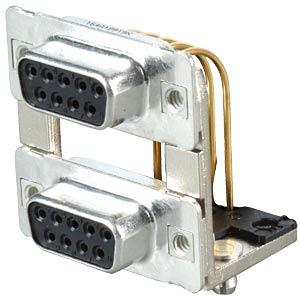 D-SUB, Dual Port, Buchse-Buchse, 2x 9-polig CONEC 164A19919X