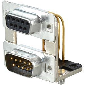 D-SUB, Dual Port, Buchse-Stecker, 2x 9-polig CONEC 164A19959X