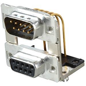 D-SUB, Dual Port, Stecker-Buchse, 2x 9-polig CONEC 163A19529X