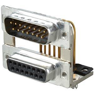 D-SUB, Dual Port, Stecker-Buchse, 2x15-polig CONEC 163A19539X