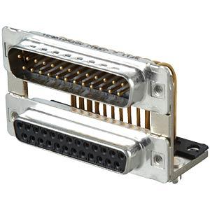 D-SUB, dual port, plug-socket, 2x 25-pin CONEC 163A19549X