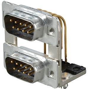 D-SUB, dual port, plug-plug, 2x 9-pin CONEC 163A19489X