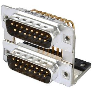 D-SUB, dual port, plug-plug, 2x 15-pin CONEC 163A19499X