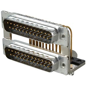 D-SUB, dual port, plug-plug, 2x 25-pin CONEC 163A19509X