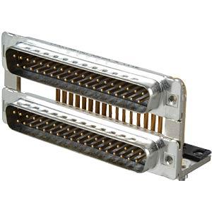 D-SUB, Dual Port, Stecker-Stecker, 2x37-polig CONEC 163A19519X