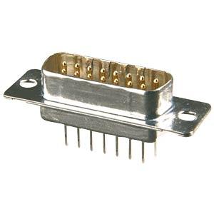 D-SUB plug, 15-pin, industrial design CONEC 163B11129X