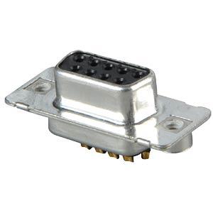 D-SUB socket, 9-pin, solder bucket, turned Contacts CONEC 164A10219X
