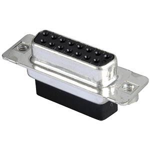 D-SUB-Buchse,15-polig, Crimp-Steckverbinder CONEC DSS2XSXXG04X