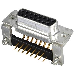 D-SUB socket, 15-pin, angled, RM 9.4, turned CONEC 164A16779X