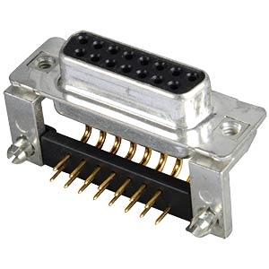 D-SUB-Buchse,15-polig, gewinkelt, RM 9,4, gedr. CONEC 164A16779X