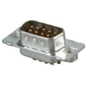 D-SUB plug, 9-pin, solder bucket, turned Contacts CONEC 163A11269X