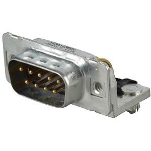 D-SUB plug, 9-pin, angled, RM 9.4, turned CONEC 163A16359X