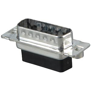 D-SUB plug, 15-pin, crimp connector CONEC DSS2XPXXG04X