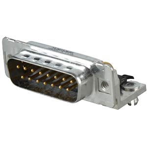 D-SUB-Stecker,15-polig, gewinkelt, RM 9,4, gedr. CONEC 163A16369X