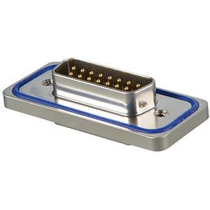 D-SUB-Stecker,15-polig,Lötkelch,IP67 Solid,gedr. CONEC 15-000583