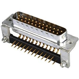 D-SUB plug, 25-pin, angled, RM 9.4, turned CONEC 163A16379X