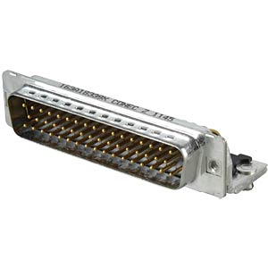 D-SUB-Stecker,50-polig, gewinkelt, RM 9,4, gedr. CONEC 163A18339X