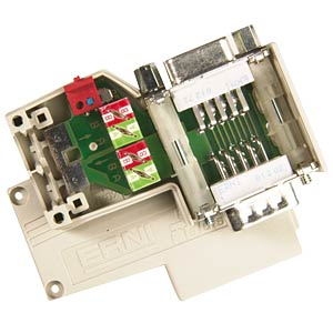 Profibus connection, 2x Sub-D, screw terminal ERNI 144475