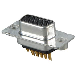 D-SUB socket, high density, 15-pin, soldered, twisted CONEC 164A17059X