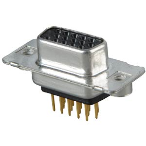 D-SUB socket, high density, 15-pin, print, twisted CONEC 164A17209X
