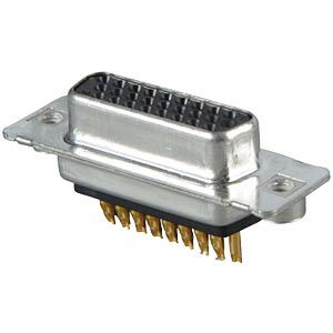 D-SUB socket, high density, 26-pin, soldered, twisted CONEC 164A17069X