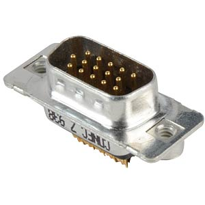 D-SUB plug, high density, 15-pin, soldered, twisted CONEC 163A16649X