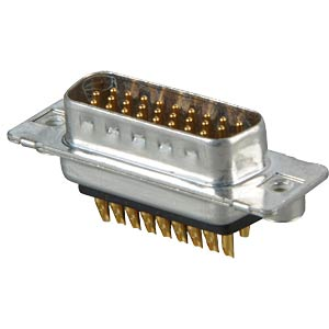 D-SUB plug, high density, 26-pin, soldered, twisted CONEC 163A16659X