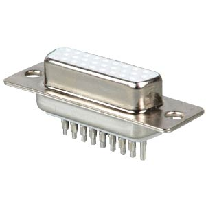 D-SUB socket, high density, 26-pin, straight FREI