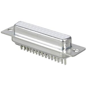D-SUB socket, high density, 44-pin, straight FREI