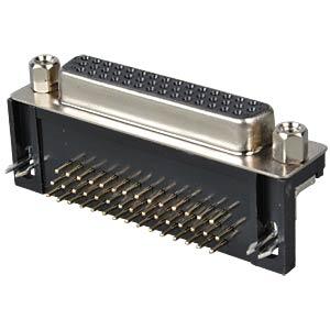 D-SUB socket, high density, 44-pin, print, angled FREI