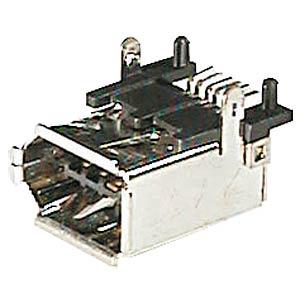 FireWire-Stecker,gew.,horizontal, SMD-Montage FREI