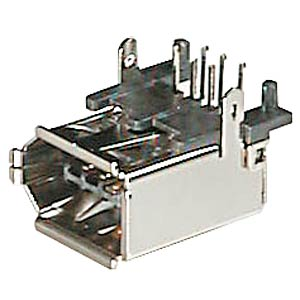 FireWire plug, angled, horizontal, PCB mounting. FREI