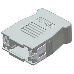 D-sub hood, 9-pin, snap-lock CONEC 16-001750