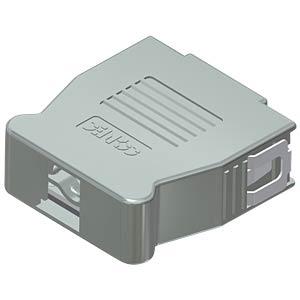 D-sub hood, 15-pin, snap-lock CONEC 16-001760