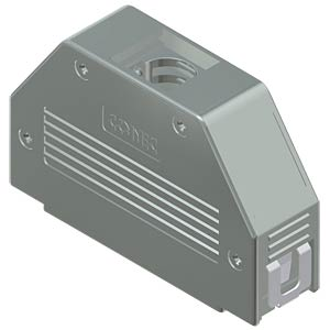 D-sub hood, 50-pin, snap-lock CONEC 16-001790