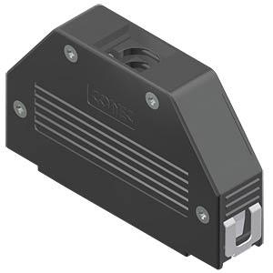 D-Sub-Haube, 37-pol, SnapLock CONEC 16-001840