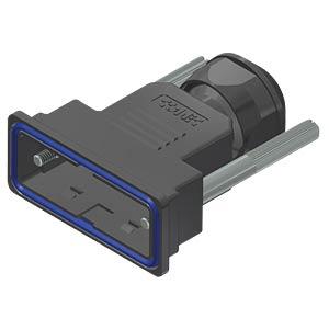 D-sub hood, 15-pin, plastic CONEC 15-004670