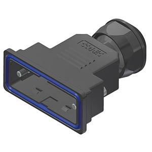 D-sub hood, 15-pin, plastic CONEC 15-004720