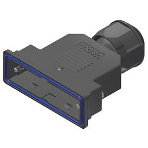 D-sub hood, 25-pin, plastic CONEC 15-004730