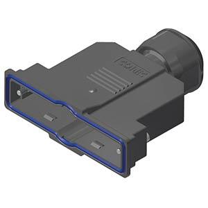 D-Sub-Haube, 37-pol, Kunststoff CONEC 15-004740