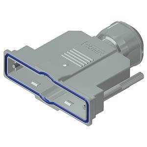 D-sub hood, 37-pin, metallised plastic CONEC 15-004790
